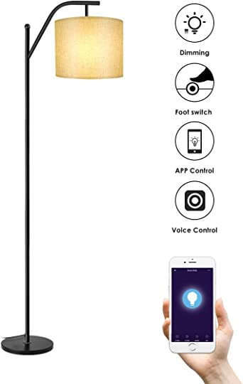Lámparas de Pie WIFI, Wellwerks Lámpara de Salón INTELIGENTE Luz Regulable Control Remoto Compatible con Alexa y App de Movil para Hogar Estudio Dormitorio: Amazon.es: Iluminación