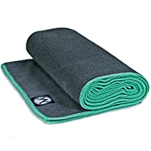 """Yoga Towel by Youphoria (24""""x72"""") - Yoga Mat Towel to Improve Your Grip in Hot Yoga - Perfect Microfiber Bikram Hot Yoga Towels - Non Slip and Skidless if Dampened"""