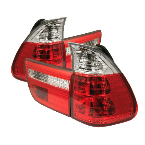Spyder Auto BMW E53 X5 Red Clear Tail Light