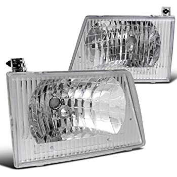 Spec-D Tuning LH-ECON92-ABM Euro Chrome E150/250/350/450 Econoline Van Headlights Lamps