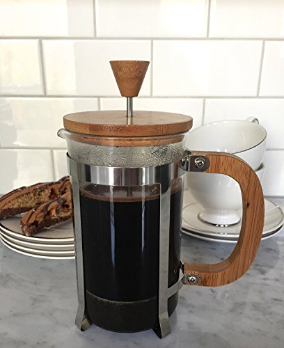 Starizzo French Press Coffee Maker For Home & Work, Travel, Camping, Tea, Cold Brew | Stylish Bamboo, BONUS Measuring Spoon, Compact Size 20oz | 600ml by Starizzo (Image #5)