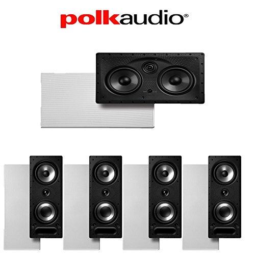 - Polk Audio 265-RT + Polk Audio 255C-LS 5.0 Vanishing Series In-Wall Home Theater Speaker Package