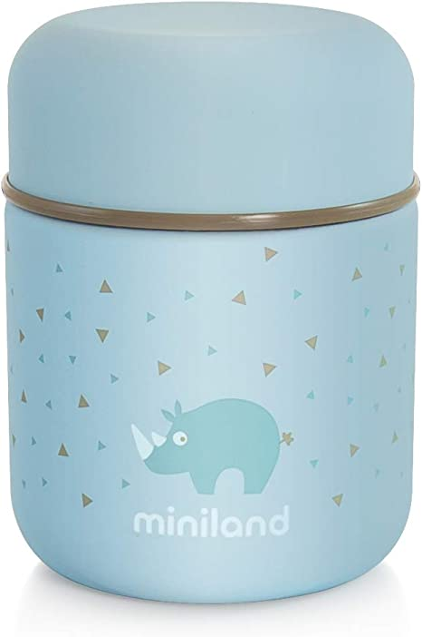 termo papillero colecci/ón EcoFriendly Termo papillero de acero inoxidable para beb/é ECO Bunny Miniland 89348 Termo para alimentos s/ólidos de 600ml