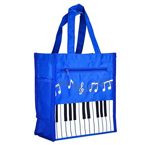 Piano Keys Music Waterproof Oxford Cloth Handbag Shoulder Tote Shopping Bag Gift - West Shopping Key