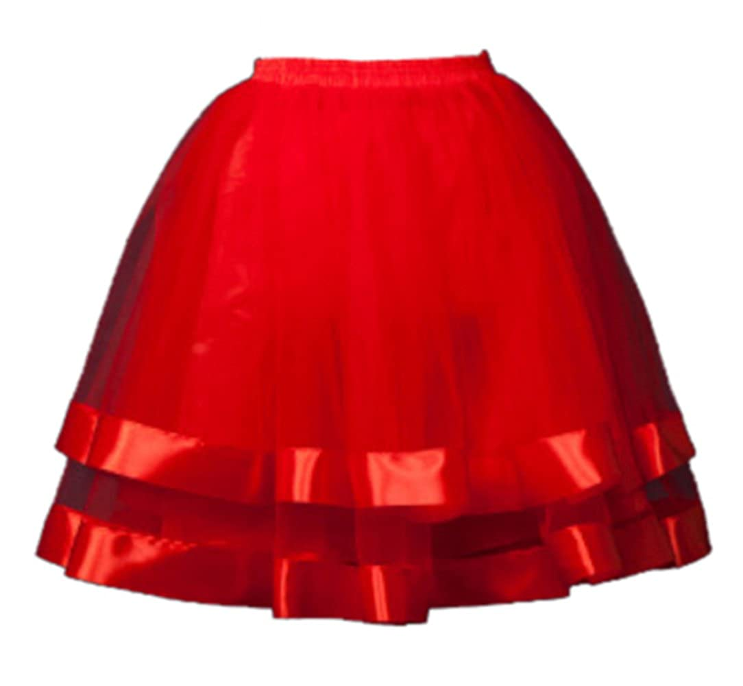 Women's Short Petticoat Elastic Waistband Tutu Tulle Mini Skirt SK Studio SK-UK-M-QC6640-4