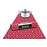 Hotrun Decorative Trivet and Kitchen Table Runners Handles Heat Up to 356F Anti Slip Hand Washable and Convenient for Hot Dishes and Pots (Deco Floral)