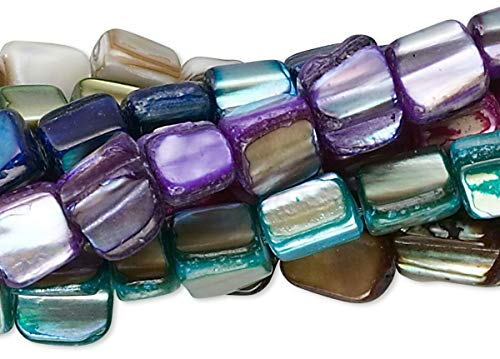 8 Strands Mother of Pearl Shell Free Form Mop Nugget Beads
