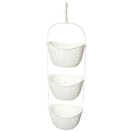 Amazon.com: Hooshion® Plastic 3 Tier Shower Caddy Bath Rack Hanging ...