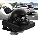 LUYANhapy9 Car Interior Accessories, Marine Boat Car Adjustable Suction Cup Compass Navigation Ball Interior Decor Car Decoration Gift, Black: more info