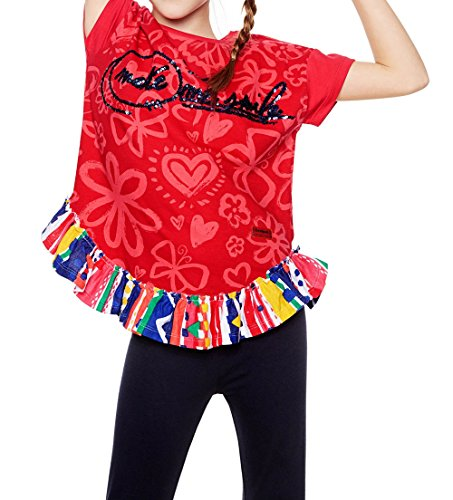 Ts Rouge Desigual Roses 18sgtkag Fille T shirt tYw0Bq