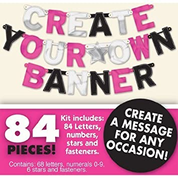 create your own personalised letter banner foil amazon co uk baby
