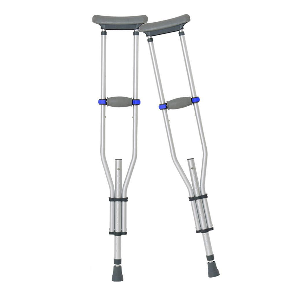 アルミ合金の脇の下の松葉杖、テレスコピック調整可能な高さノンスリップアダルト - 1脚   B07MBLTJ38