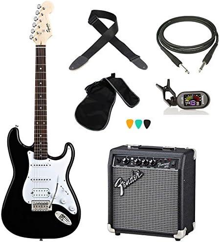 Fender Squier Bullet HSS Kit Guitarra Eléctrica Amplificador Afinador Cable Correa púas: Amazon.es: Instrumentos musicales