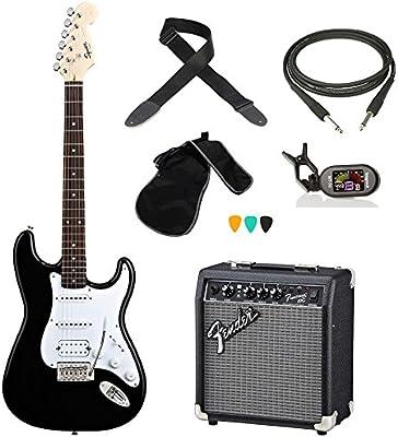 KIT de guitarra eléctrica, incluye afinador FENDER BULLET Cable Amplificador correa unidades