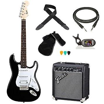 KIT de guitarra eléctrica, incluye afinador FENDER BULLET Cable Amplificador correa unidades: Amazon.es: Instrumentos musicales