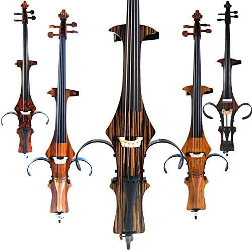 Leeche Handmade Professional Solid Wood Electric Cello 4/4 Full Size Silent Electric Cello-Wood Grain by Leeche