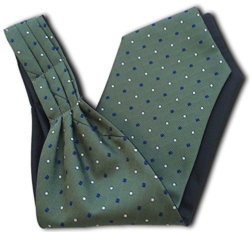 Men's Blue Dark Diamonds 'Under amp; with Green Cravat White Ascot Shirt' Royal BWB4aqr