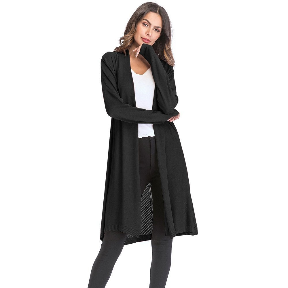 Londony Autumn Outwear,Women's Long Sleeve Cardigan Hollow Lace Crochet Casual Tops Sheer Cover up Plus Size