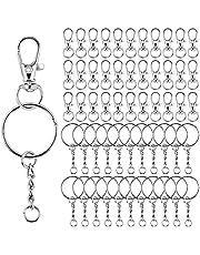 70 STKS Swivel Snap Haken 70 STKS Sleutelhangers met Ketting Metalen Swivel Kreeft Sluiting Sleutelhangers voor Lanyard Sleutelhanger Sleutels