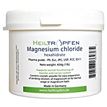 1 Pound Magnesium Chloride, Hexahydrate, Pharmaceutical Grade, Crystal Powder, Pure Ph. Eur., BP, USP, 100% Edible -Muscle Pain Relief