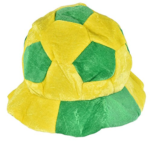 Vbestlife World Cup Soccer Hats Fans Party Football Shape Hat Soccer Match Cheering Cap, Multicolor Matching The National Flags(Brazil)