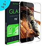 iPhone 6S Plus Screen Protector,Buffway Tempered Glass Screen Protector for iPhone 6S Plus [3D Touch Compatible] Easy Install Works With iPhone 6 Plus and Protective Cases