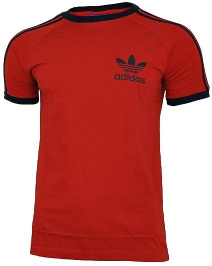 adidas Sport ESS Tee Trefoil Camiseta Hombre T-Shirt Originals Retro Rojo, Tamaño: