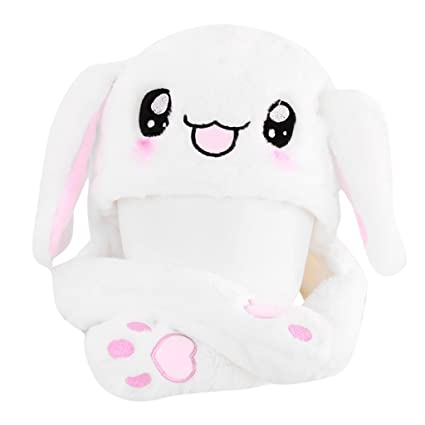 2019 New Cartoon Hats Moving Ears Cute Rabbit Pikachu Toy Hat Airbag Kawaii Funny Hat Cap Kids Plush Toy Christmas Gift Novelty & Special Use