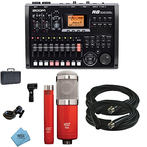 Zoom R8 Multitrack SD Recorder Controller and Interface w/ MXL 550/551R & Cables by Zoom