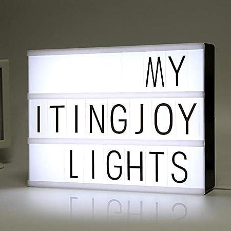 Voiks A4 Cinematic Light Box,Caja de luz cinematográfica/Personalizar a4 Caja de luz de película/Caja de Cine con 96 Letras: Amazon.es: Hogar