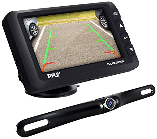 Pyle Upgraded Wireless Backup Camera and Monitor Kit - Vehicle Parking Reverse System IP67 Waterproof and Fog Resistant w/ 4.3