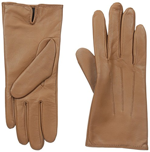 Isotoner Women's Smartouch Leather Glove, Luggage, 8