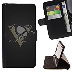 DEVIL CASE - FOR Samsung Galaxy Note 3 III - Penguin Hockey Team - Style PU Leather Case Wallet Flip Stand Flap Closure Cover