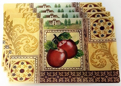Apples Placemats, Set of 4 - Apple Placemat