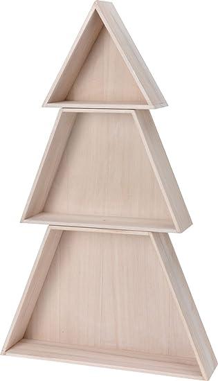 Holz Setzkasten Tannenbaum 74 Cm   3 Teiliger Dekobaum Für Ihre  Weihnachtsdeko   Holz Weihnachtsbaum