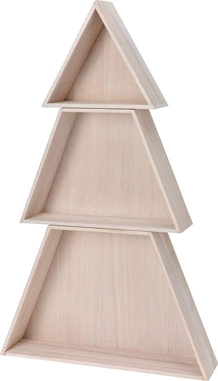 Holz Setzkasten Tannenbaum 74 Cm - 3-Teiliger Dekobaum Für Ihre