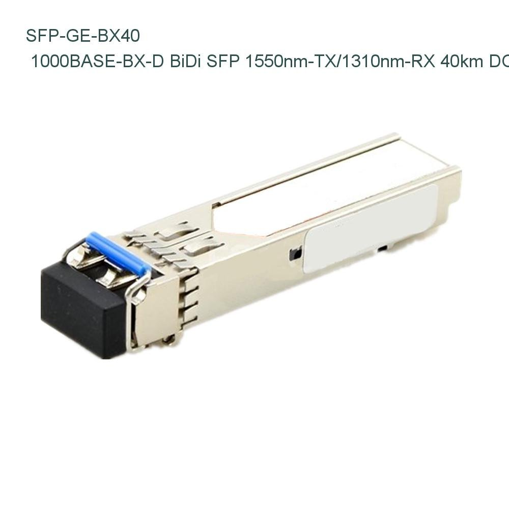 Juniper Networks SFP-GE40KT15R13 Compatible 1000BASE-BX-D BiDi SFP 1550nm-TX/1310nm-RX 40km DOM Transceiver - NETCNA