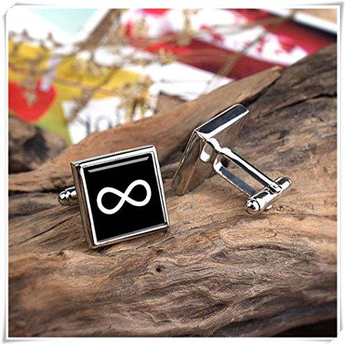 Infinity Love Cufflinks Print friendship Love Symbol men accessories Wedding Marriage Anniversary