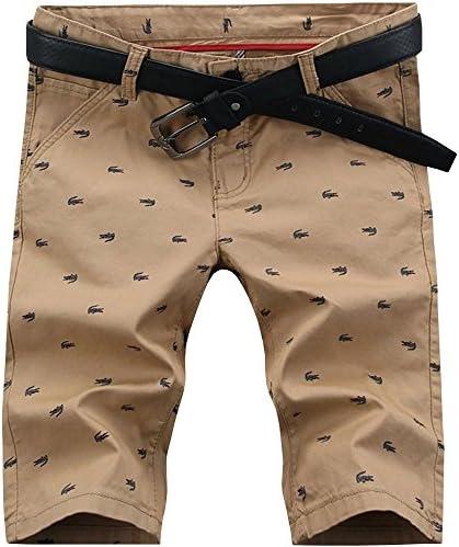 Hengao Bermudas ajustadas de estilo chino informales a la moda para hombre, pantalones cortos para la playa