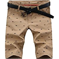 hengao de los hombres Moda Casual Slim Chino Bermuda pantalones cortos de playa Boardshorts