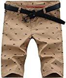 Men's Fashion Casual Slim Fit Chino Bermuda Beach Shorts Boardshorts Khaki