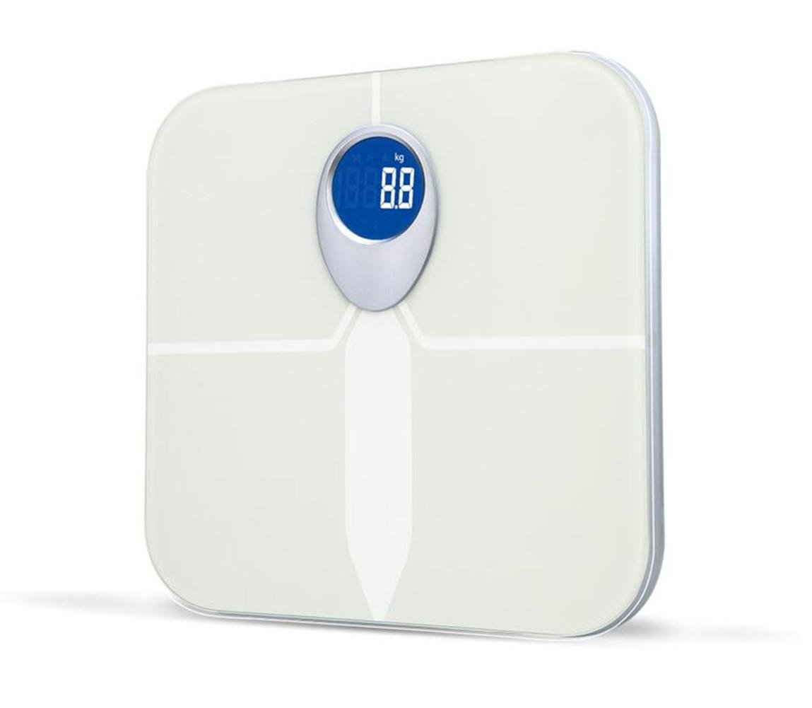 W-ONLY YOU-J Digital Bathroom Scale / Electronic Weighing Scale Body Composition, BMI, Body Fat, Water Mass, Skeletal Muscle, Bone Mass, Calorie Intake, Body Age -App(White gift)