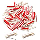 100 White Safety Pin Bar with Adhesive, badge pin