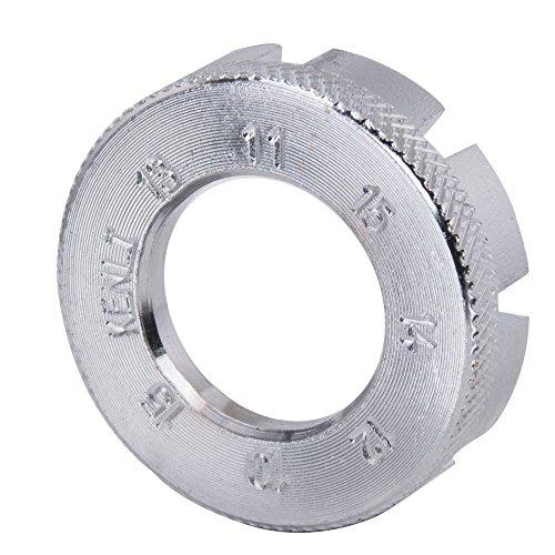 Ankoow Bicycle Wheel Spoke Wrench, 3Pcs Universal Mini 8 Way Repair Tool 6 Sizes in One Mountain Bike Spoke Nipple Key Adjuster Tool Kit Cr Mo Steel Wheel Rim Spanner