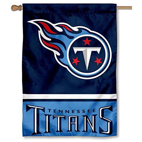 Tennessee Titans Two Sided House Flag (Tennessee Titans House Banner)