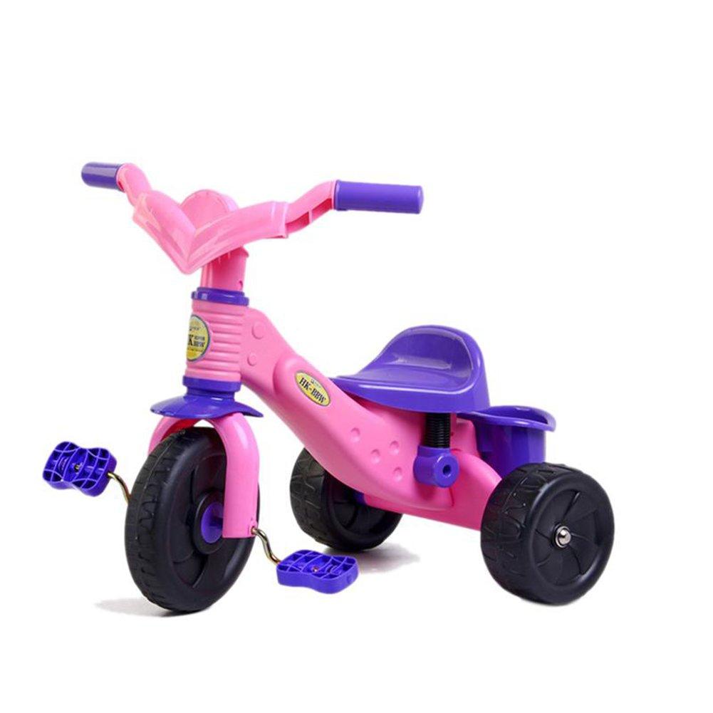 XQ 子供 軽量 EVA発泡ホイール 三輪車 1-3-5歳 子ども用自転車 ( 色 : Purple and pink ) B07C6WH72F Purple and pink Purple and pink