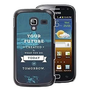 A-type Arte & diseño plástico duro Fundas Cover Cubre Hard Case Cover para Samsung Galaxy Ace 2 (Quote Blue Text)