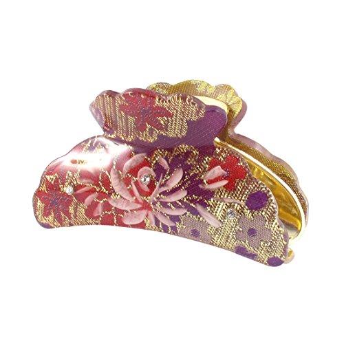 uxcell Plastic Woman Clamp Teeth Design Hair Clip Claw Barrette 3.5 Inch Length Purple