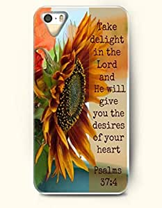 iPhone 4 4S Case OOFIT Phone Hard Case **NEW** Case with Design Take Delight In The Lord And He Will Give You The Desires Of Your Heart Psalms 37:4- Bible Verses - Case for Apple iPhone 4/4s