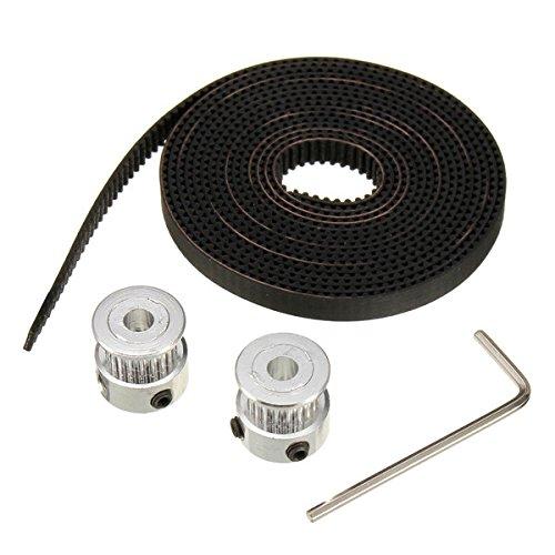 ChaRLes 2pcs GT2 20T 5mm Bohrung 6mm Breite Riemenscheibe und 79GT2 ZahnRiemen-Set